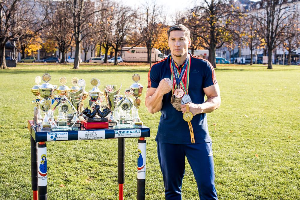 Presse Werbung marketing Spannagel Armwrestling Weltmeister