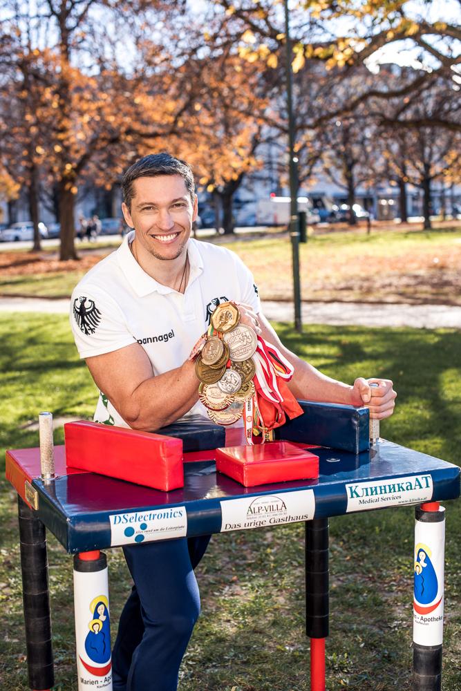 Dieter Spannagel Armwrestling Weltmeister